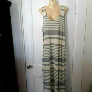 NWT Just Love gray cream sun maxi dress 1X